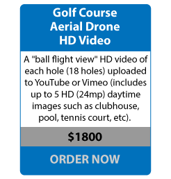 aerial drone golf course
