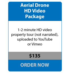 Aerial Drone HD Video Package - 1-2 minute HD video property tour (not narrated), uploaded to YouTube or Vimeo - $135 ORDER NOW