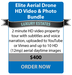 Elite Aerial Drone HD Video & Photo Bundle - LUXURY ESTATES - 3-4 minute HD video property tour with subtitles and voice narration, uploaded to YouTube or Vimeo - $400 ORDER NOW