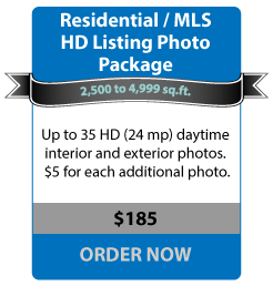 Residential / MLS HD Listing Photo Package - 2,499 to 4,999 sq.ft. - Up to 35 HD (24mp) daytime interior and exterior photos. $5 for each additional photo. - $185 ORDER NOW